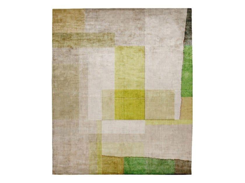 Handmade rectangular silk rug P120 PROTOTYPE KIWANUKA GARDEN by HENZEL STUDIO