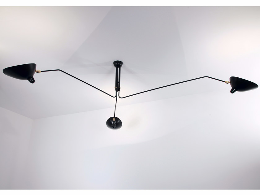 Adjustable metal ceiling lamp P3B | Ceiling lamp - Editions Serge Mouille