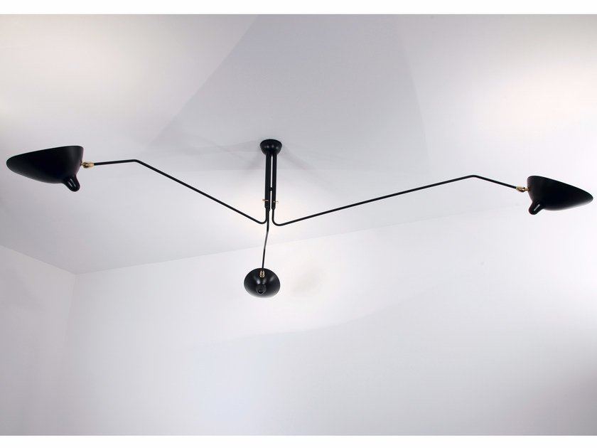 Adjustable metal ceiling lamp P3B | Ceiling lamp by Serge Mouille