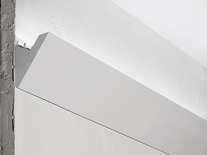 Wall-mounted gypsum Linear lighting profile P7 by NOBILE ITALIA