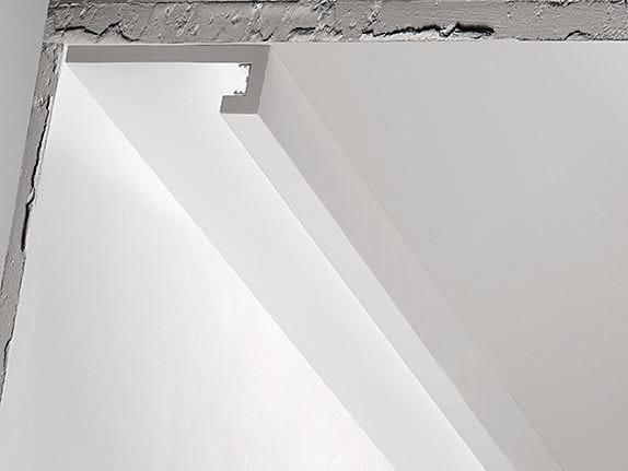 Profilo per illuminazione lineare in gesso P8 by NOBILE ITALIA