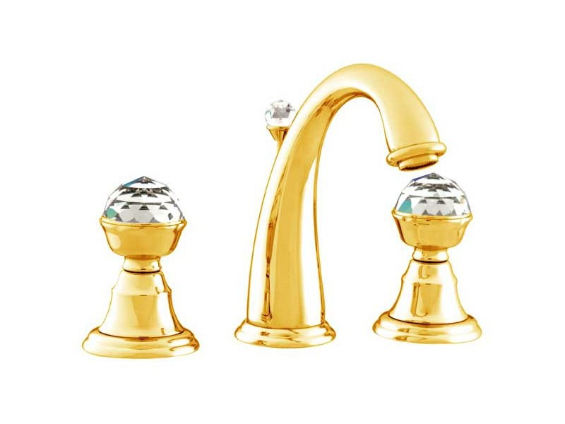 3 hole washbasin tap with Swarovski® crystals PACIFICA | 3 hole washbasin tap - Bronces Mestre