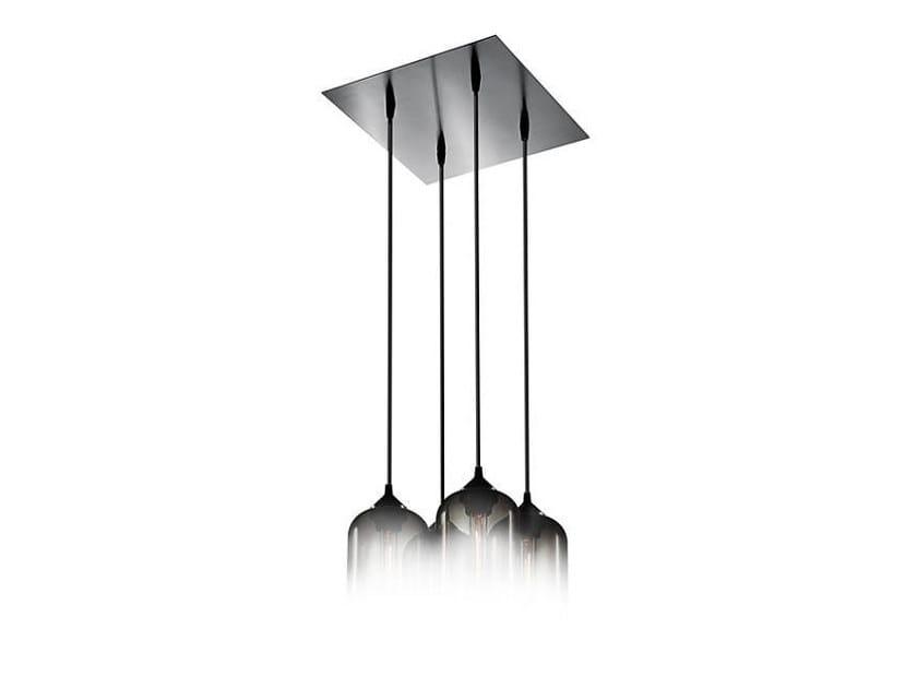Lampada a sospensione a luce diretta fatta a mano in vetro soffiato PACK 4 - Niche Modern