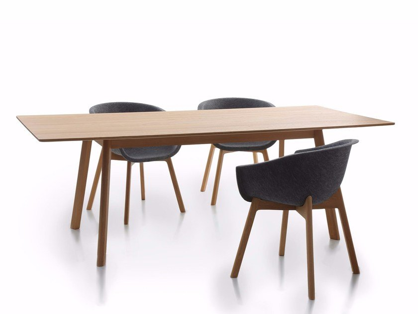 Rectangular oak dining table PAD TABLE WOOD - conmoto by Lions at Work