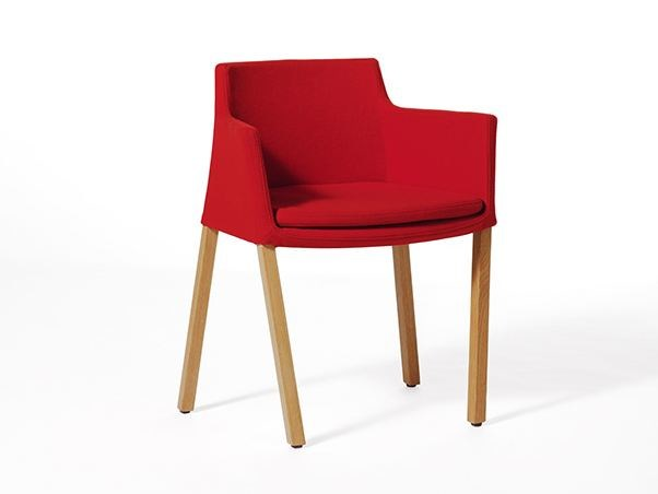 Fabric chair with armrests PADDOCK | Chair - Paolo Castelli