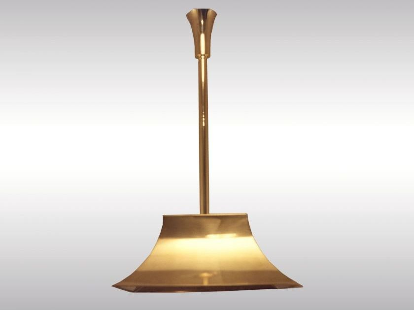 Classic style brass pendant lamp PAGODE by Woka Lamps Vienna