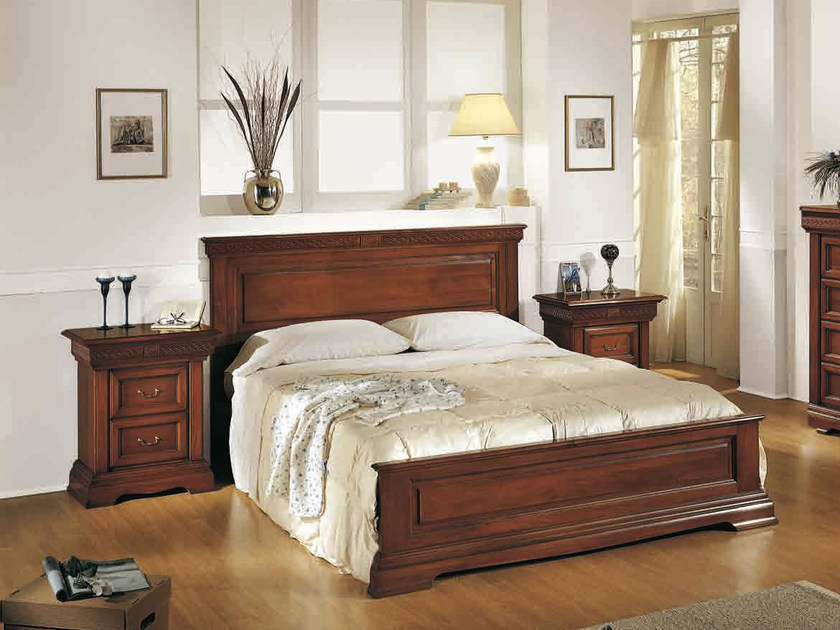 Wooden double bed PALLADIO | Bed - Arvestyle