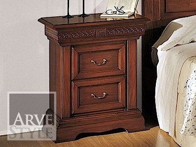 Rectangular bedside table with drawers PALLADIO | Bedside table by Arvestyle