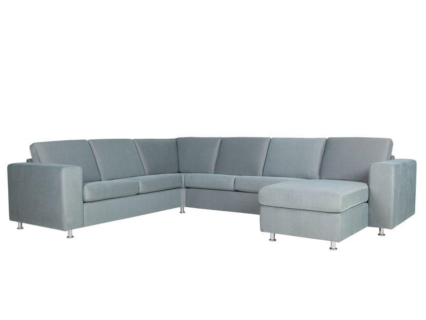 5 seater corner fabric sofa with chaise longue PALMA | Corner sofa - SITS