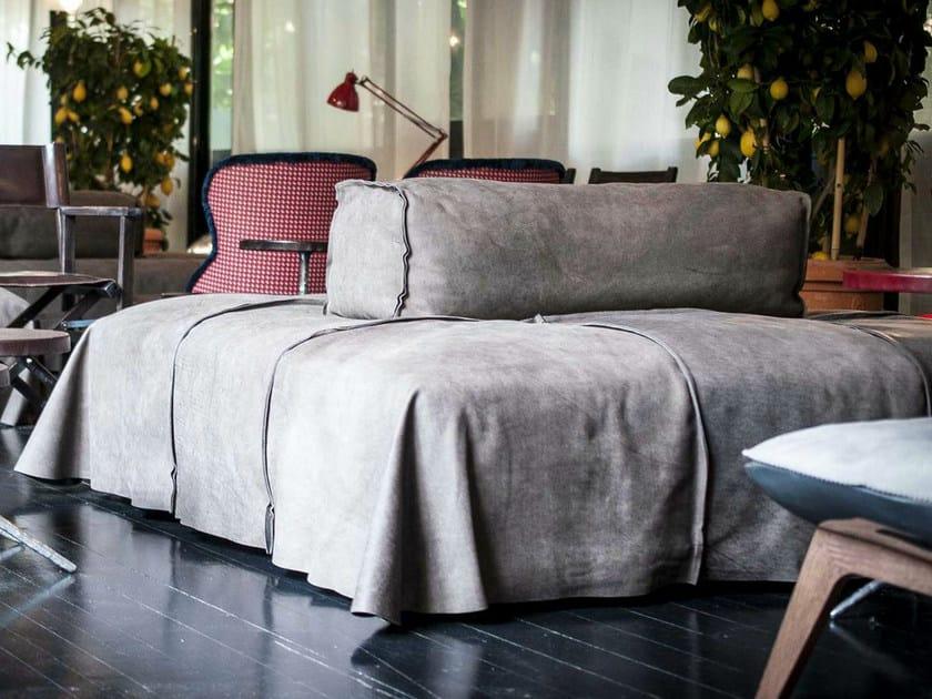 Divano componibile in pelle panama by baxter design paola for Prezzi divani baxter