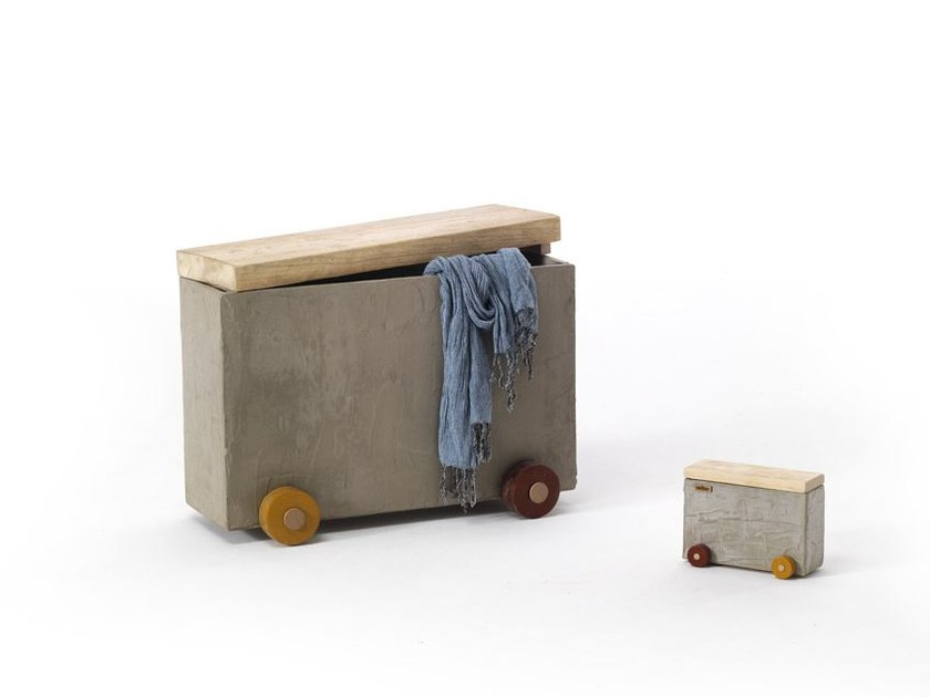 Storage concrete resin bench PANCHO VILLA - Vontree