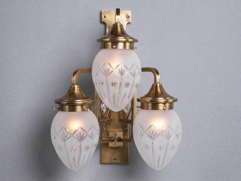 Direct light brass wall lamp PANNON III | Wall lamp - Patinas Lighting