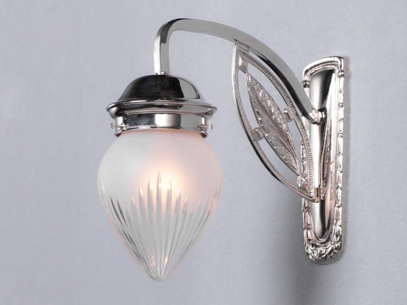 Lampada da parete a luce diretta in nichel PANNON IV | Lampada da parete in nichel - Patinas Lighting