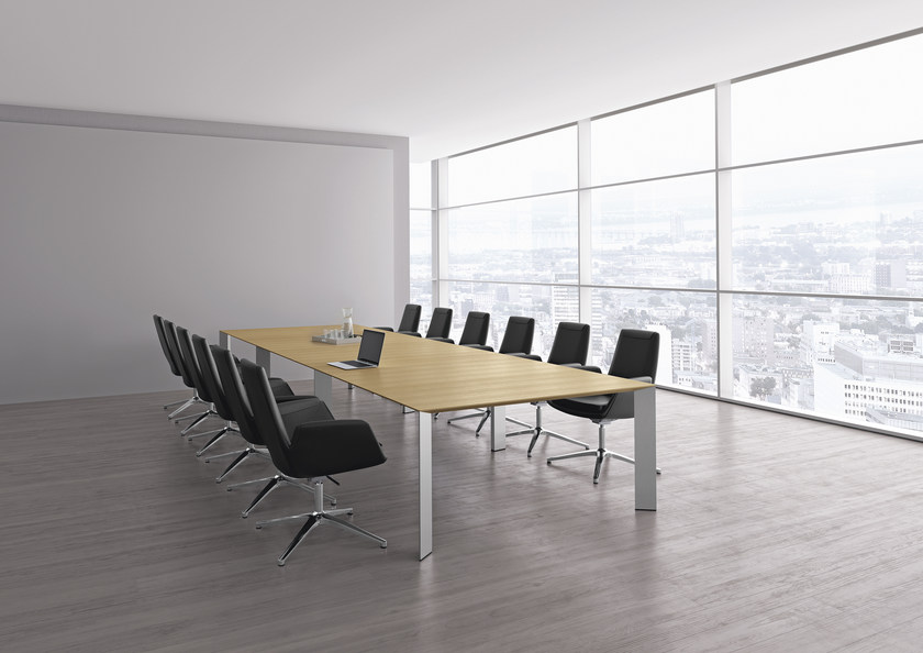 Meeting table with cable management PAPER | Meeting table by RENZ
