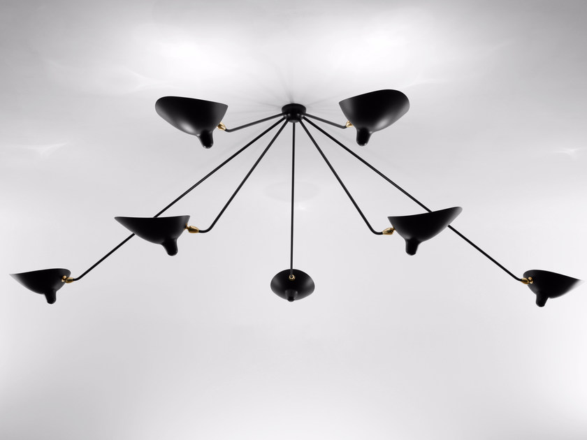 Adjustable metal ceiling lamp PAR7B | Ceiling lamp by Serge Mouille