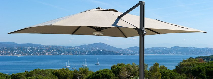 Offset adjustable square fabric Garden umbrella PARASOL | Offset Garden umbrella by Les jardins