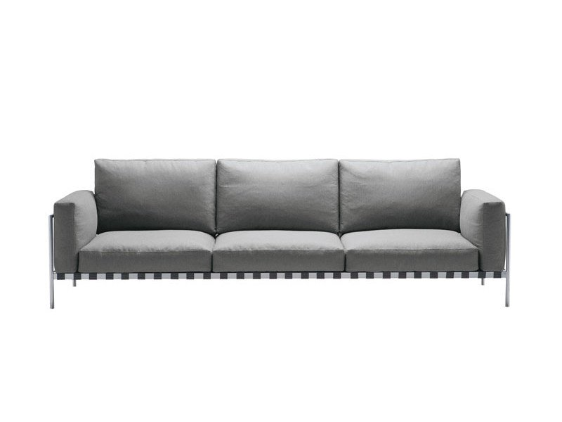 Fabric sofa with removable cover PARCO 1035 by Zanotta