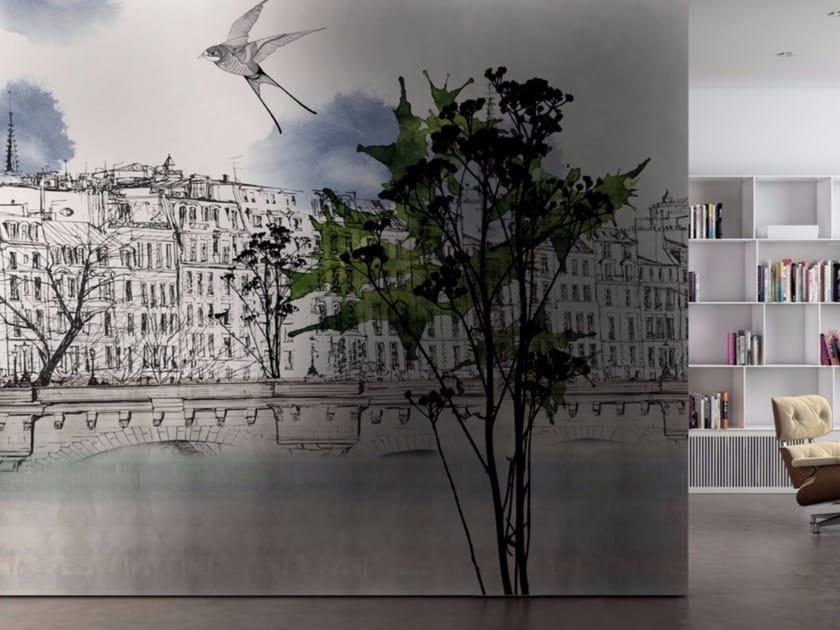 Washable landscape vinyl wallpaper PARIS - GLAMORA