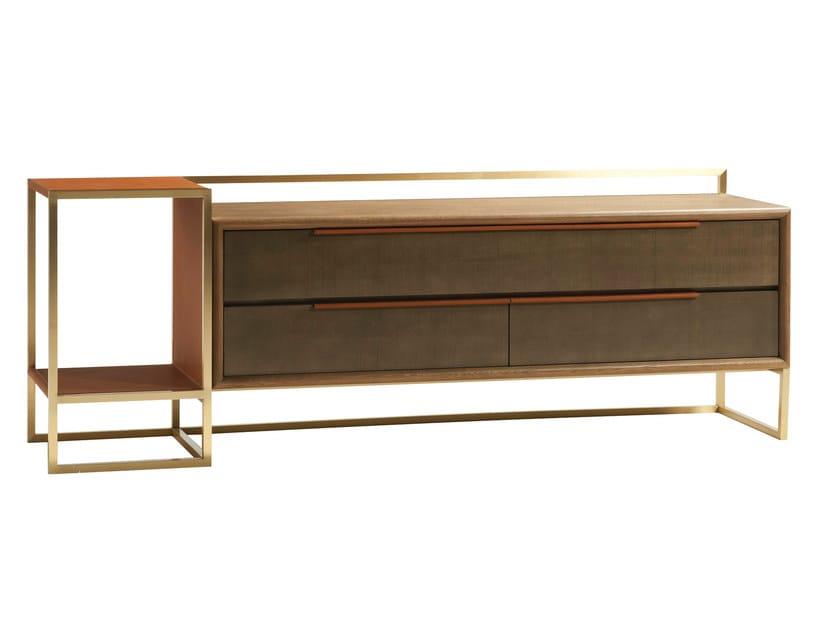 Low TV cabinet PARIS PANAME | TV cabinet by ROCHE BOBOIS