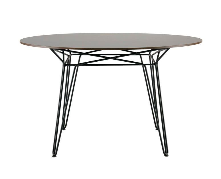 Tavolo da giardino rotondo in hpl parisi tavolo in hpl for Tavolo hpl