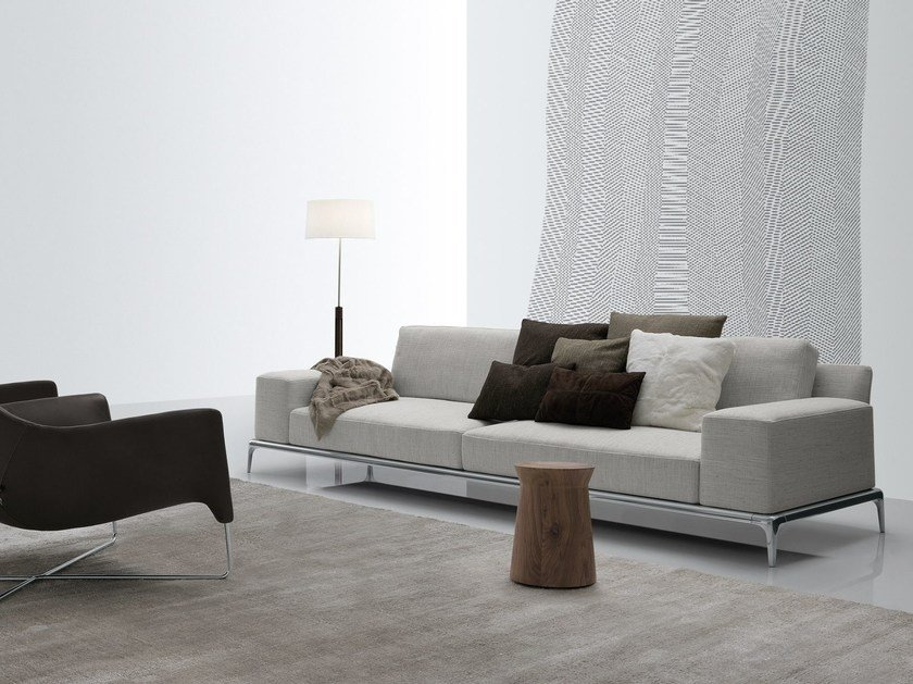 Sectional fabric sofa with removable cover PARK | Fabric sofa - Poliform