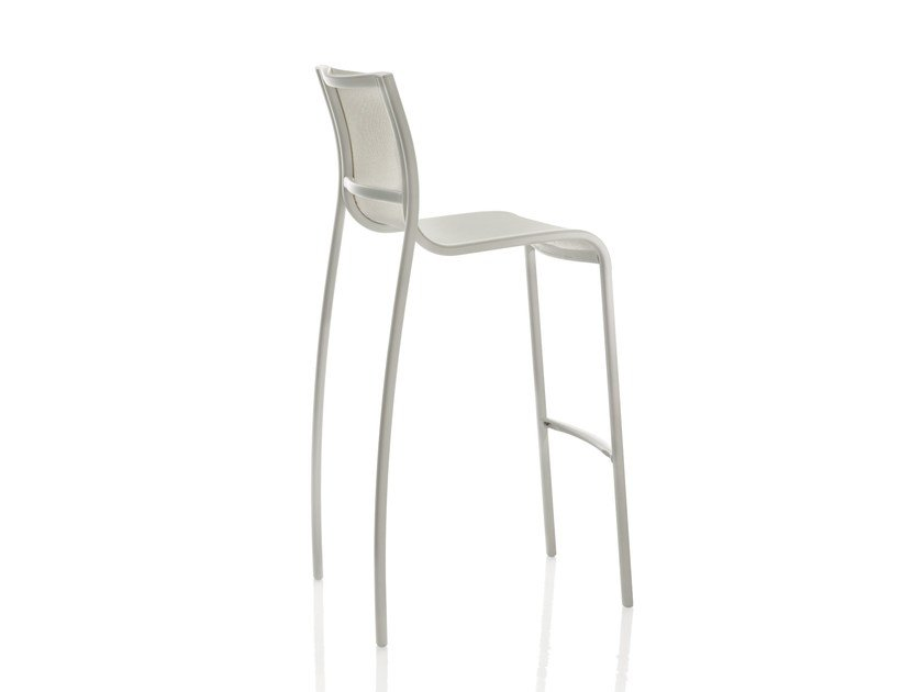 Polyester fibre counter stool with footrest PASO DOBLE | Counter stool - Magis