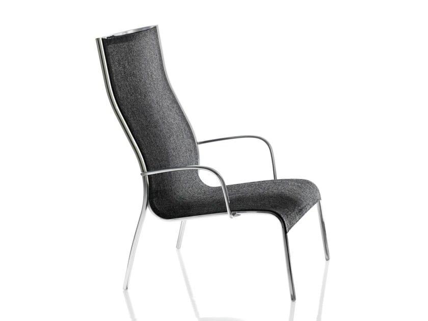 High-back polyester fibre garden armchair PASO DOBLE | High-back armchair - Magis