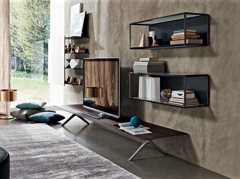 Sectional storage wall PASS-WORD | Storage wall - MOLTENI & C.