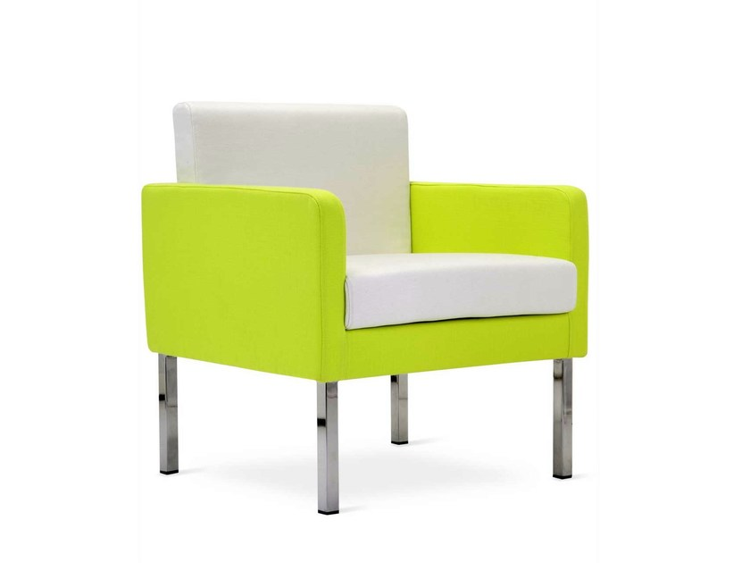 Upholstered fabric armchair with armrests PASTEL SOFA | Armchair - Domingo Salotti