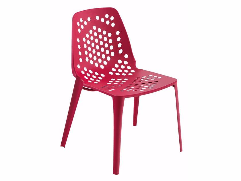 Stackable steel garden chair PATTERN | Chair - EMU Group S.p.A.