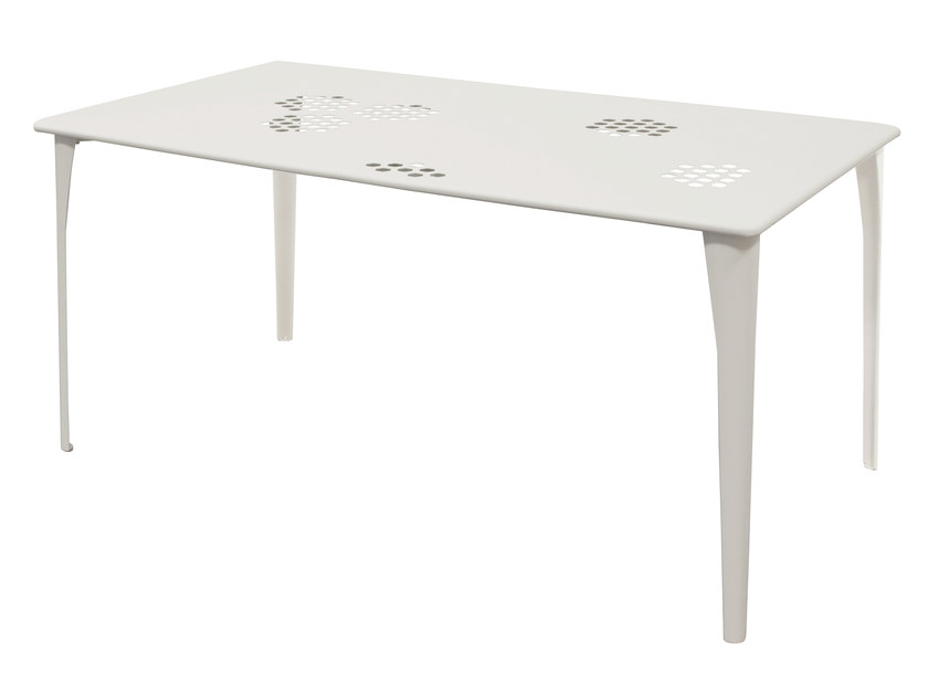 Rectangular steel garden table PATTERN | Rectangular table - EMU Group S.p.A.