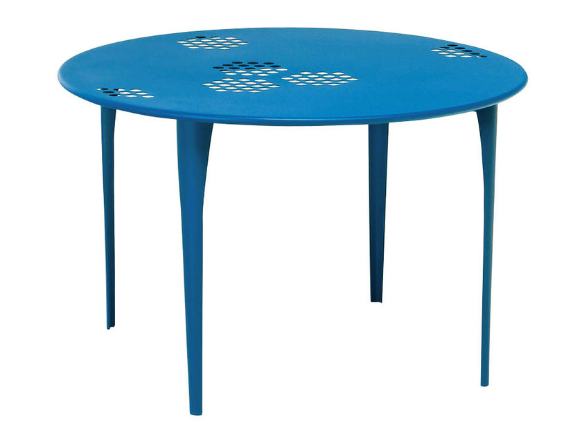 Round steel garden table PATTERN | Round table - EMU Group S.p.A.