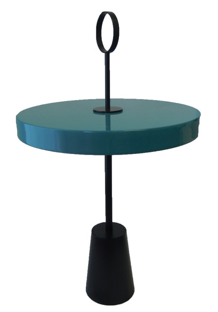 Lacquered round side table PEDRO by ROCHE BOBOIS