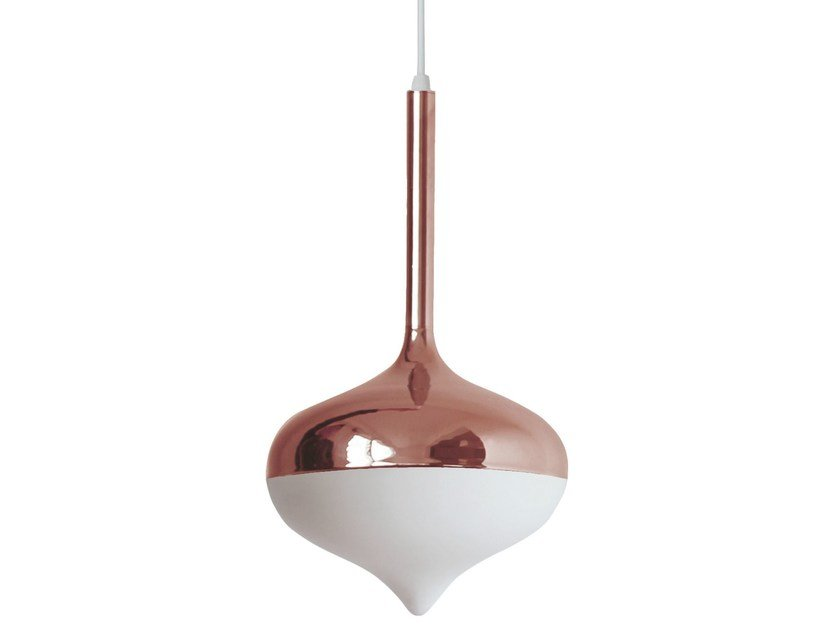 Chrome plated steel pendant lamp SPUN | Pendant lamp - Evie Group