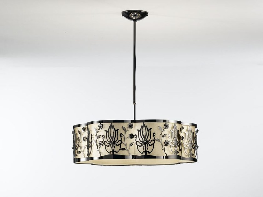 Fabric pendant lamp with Swarovski® Crystals MARGOT | Pendant lamp - IDL EXPORT