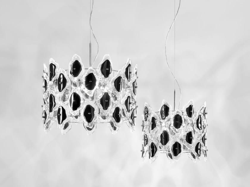 Direct-indirect light Murano glass pendant lamp SOFIA | Pendant lamp - IDL EXPORT
