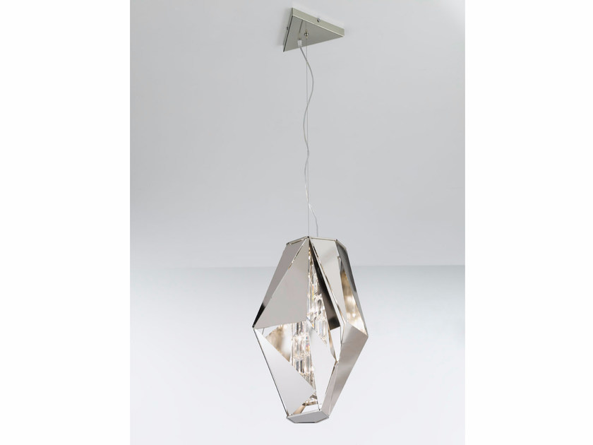 Metal pendant lamp with Swarovski® Crystals CRYSTAL ROCK | Pendant lamp - IDL EXPORT