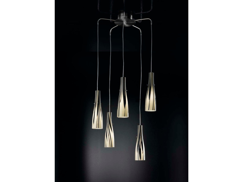 Direct light Murano glass pendant lamp INKA | Pendant lamp by IDL EXPORT