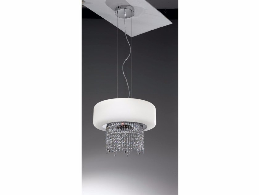 Blown glass pendant lamp with Swarovski® Crystals TIFFANY | Pendant lamp - IDL EXPORT