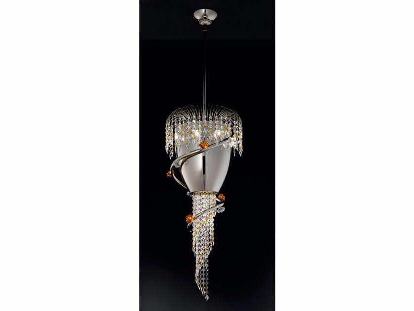 Metal pendant lamp with Swarovski® Crystals DIVINA | Pendant lamp by IDL EXPORT