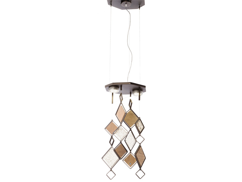 Direct light metal pendant lamp QUADRIE | Pendant lamp by IDL EXPORT