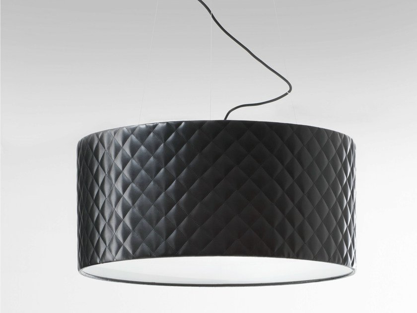 Imitation leather pendant lamp MARIÙ | Pendant lamp by Lucente