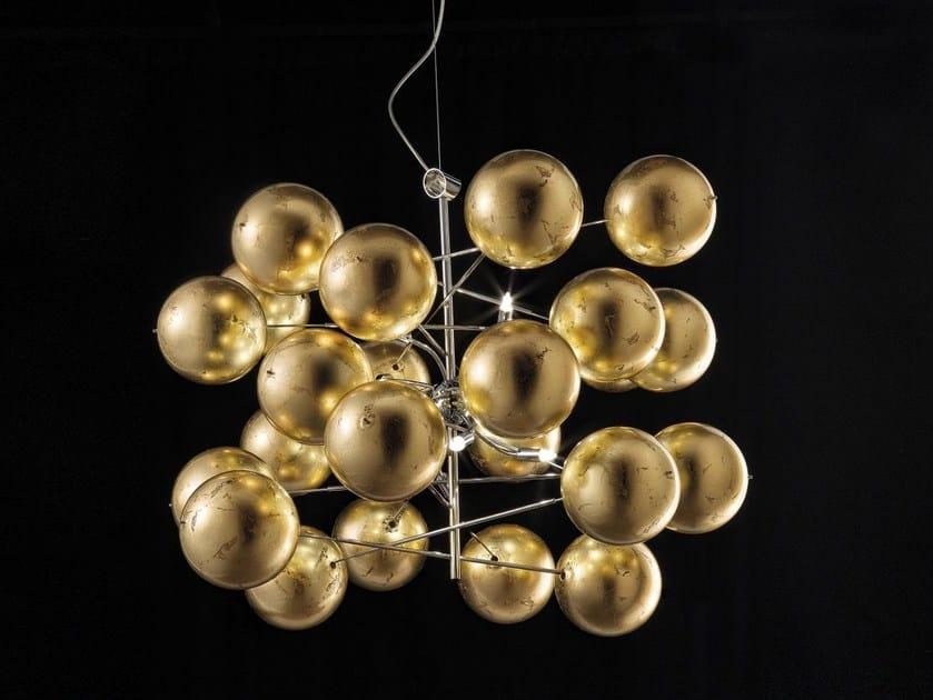 Crystal pendant lamp ATOM Ø 80 - Metal Lux di Baccega R. & C.