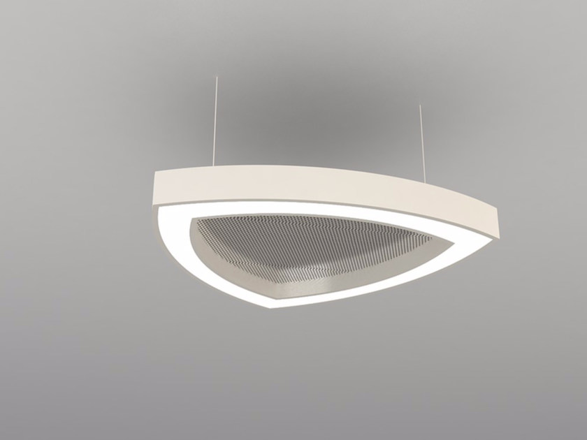 Hanging acoustical panel / pendant lamp NCM LA T600-900-1200RFA | Pendant lamp by Neonny