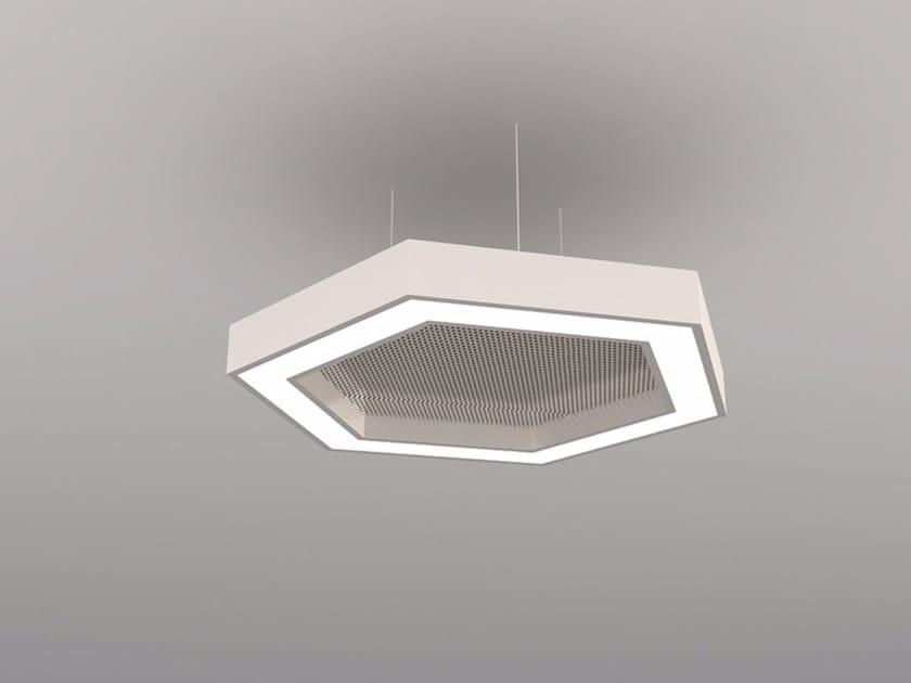 Hanging acoustical panel / pendant lamp NCM LA H600-900-1200FA | Pendant lamp by Neonny