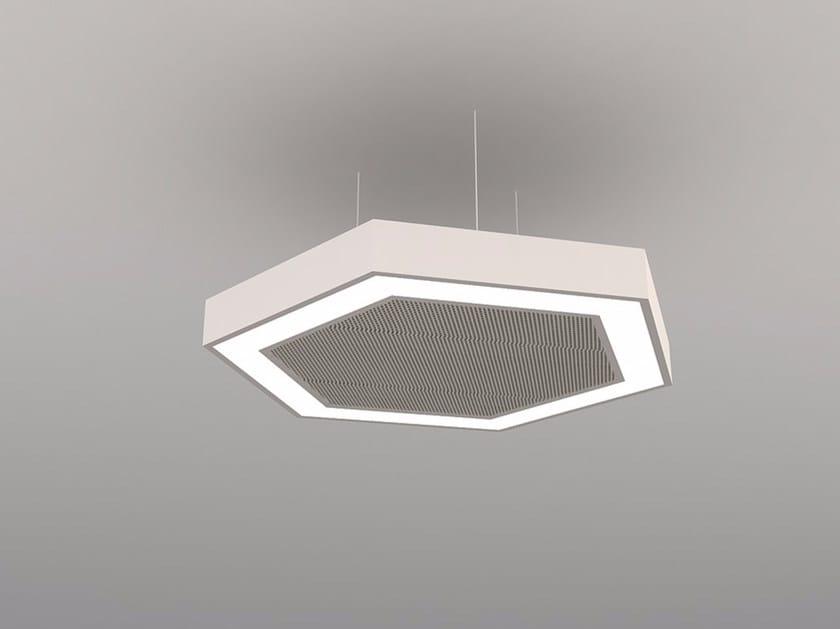Hanging acoustical panels / pendant lamp NCM LA H600FB | Pendant lamp - Neonny
