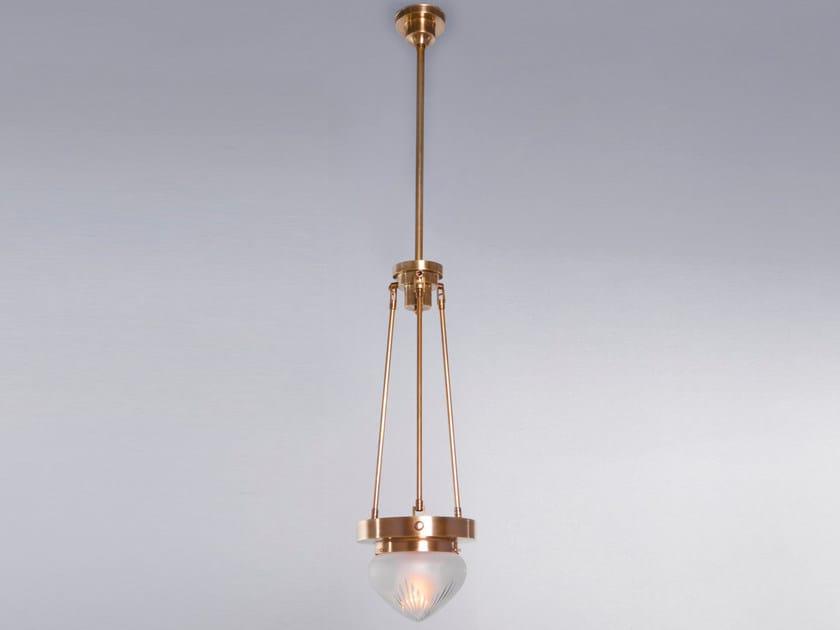 Brass pendant lamp BASEL | Pendant lamp by Patinas Lighting