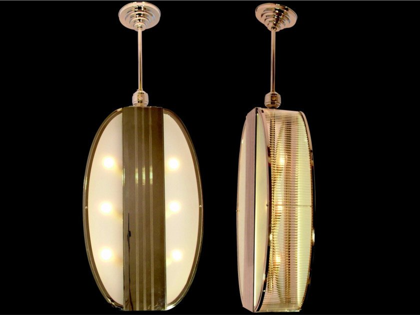 Direct light brass pendant lamp ORLEANS | Pendant lamp - Patinas Lighting