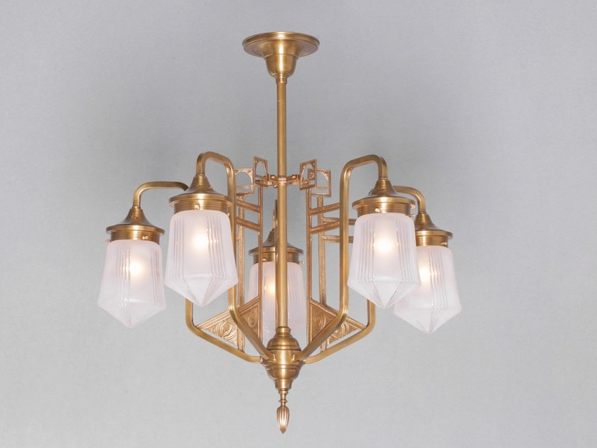 Direct light brass pendant lamp LUZERN | Pendant lamp - Patinas Lighting