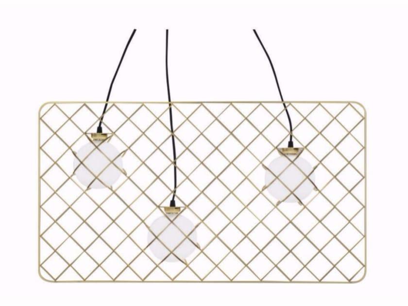 Lampada a sospensione alogena in acciaio e vetro LIGHT CATCHER | Lampada a sospensione - ROCHE BOBOIS